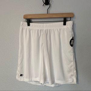 3/$25 STARTER Men's White Knit Short, Medium